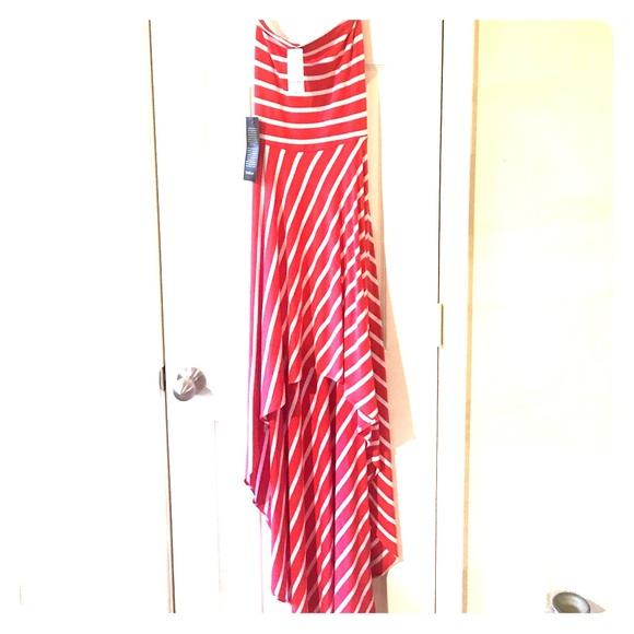 bebe Dresses & Skirts - Bebe Hi/low strapless sundress